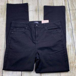 NEW NYDJ Black Marilyn Straight Stretchy Jeans 16